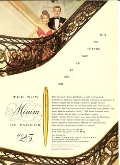 Site devoted to the Parker pens history and timeline. The ultimate guide in the Parker Pen jungle and an invaluable asset for fountain pen collectors. Ballpoint Pen, Fountain Pens, Vintage Ads, Gifts For Friends, Stationery, Pens, Pencil Sharpener, Feathers, Stationery Shop