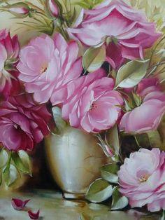 800 Flowers, Sugar Flowers, Painting Patterns, Fabric Painting, Rose Flower Wallpaper, Art Drawings Beautiful, Arte Floral, Vintage Flowers, Flower Art