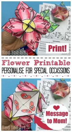 Mother's Day Flower Fortune Teller - Red Ted Art's Blog