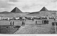 Was it really the First World War? Picture above is of Australian troops camped in front of the pyramids in Egypt during World War I. World War One, First World, Bbc News, News 2, Gallipoli Campaign, Seven Years' War, Anzac Day, Total War, Lest We Forget