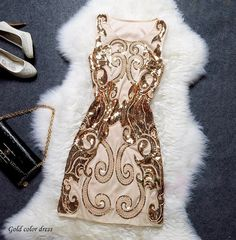 great gatsby 1920s dress gold dress costume  - Halloween glam fashion!