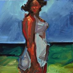 Ruth Franklin, untitled (swimmer- rf5791), 2009, acrylic on canvas, 16 x 16 inches