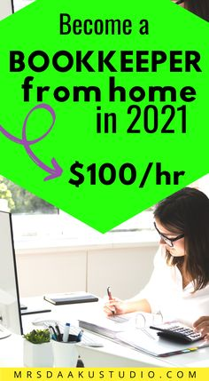 This contains: bookkeeping for beginners work at home Earn Money Online Fast, Ways To Earn Money, Earn Money From Home, Bookkeeping Training, Bookkeeping Business, Work From Home Options, Make Side Money, Student Jobs, Online Jobs From Home