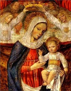 Ambrogio da Fossano - Madonna and Child Madonna Und Kind, Madonna And Child, Blessed Mother Mary, Blessed Virgin Mary, Italian Renaissance, Renaissance Art, Catholic Art, Religious Art, Images Of Mary