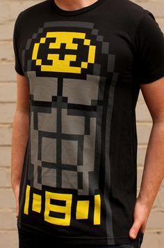 I Heart Love Nerds Pixelated 8-bit Gamers Nerds Geeks Juniors V-neck T-shirt