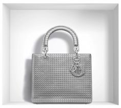 Dior 'Lady Dior' Bag in Silver-Tone Peforated Calfskin (price upon request