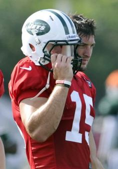"""Tim Tebow has tough day passing at Jets camp"" Newsday (August 16, 2012)"