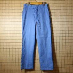 ディッキーズ Dickies USA製 古着 ワークパンツ 874 ライトブルー w32l32 083017aw141