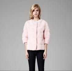 Lilly e Violetta Milano 'Sarah' mink jacket in pink £4,995 |  lillyevioletta.com