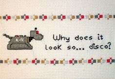 K9 from Doctor Who: K-9 Cross-stitch