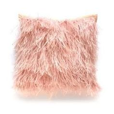 Dransfield & Ross Ostrich Feather Pillow in Mauve