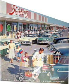 Rare picture of the Steinberg\'s located in St-Martin Shopping Center in Chomedey (recalled Laval later...) in 1957. This store was not sufficient enough customer-wise, another store was built at the other end 2 years later...