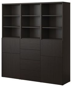 BESTÅ Storage combination w doors/drawers modern bookcases cabinets and computer armoires