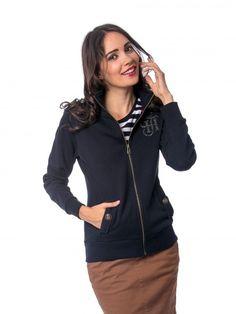 TAMARA   Női   Felsők   Zippes Felső Hooded Jacket, Athletic, Navy, Zip, Hoodies, Sweaters, Jackets, Fashion, Jacket With Hoodie