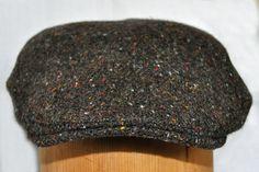Hanna Hats of Donegal.Irish Flat Cap.Donegal Tweed.Brad Pitt Style .Green Tweed