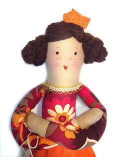 Soft doll Victoria by ZakkaZuppa on Etsy