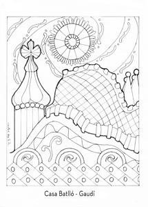 Mandala - Gaudí - Colouring Pages, Coloring Books, Gaudi Mosaic, Antonio Gaudi, Classroom Art Projects, Art Plastique, Teaching Art, Matisse, Illustrations