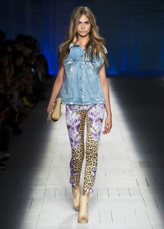 The gorgeous Cara Delevingne on the #JustCavalli SS 2013 runway!