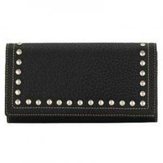 American West Bandana Flap Wallet Black Signature Collection