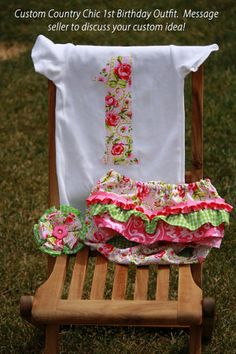 Girl's 1st Birthday OutfitOnsies Matching by BellesBelongings