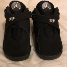 reputable site fc15f bbf6d Jordan Shoes   Nike Air Jordan 8 Retro Black White Chrome Size 5c   Color   Black White   Size  5bb