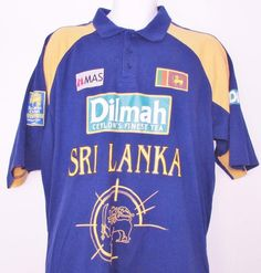 Mas Holdings 96 World Cup Champs Sri Lanka Cricket Shirt Jersey Cotton XL… Casual Shirts For Men, Champs, Men's Clothing, Sri Lanka, Cricket, The 100, Polo Ralph Lauren, Mens Tops, Cotton