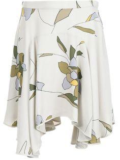 HALSTON HERITAGE Floral Print Skirt. #halstonheritage #cloth #skirt