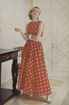vogue, 1955~I love polka dots!