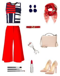 """""""Red :: color of the season"""" by raquel-c-macias on Polyvore featuring Tommy Hilfiger, Alexander McQueen, Jonathan Simkhai, Christian Louboutin, Mark Cross, Gucci, Kenneth Jay Lane, Givenchy, MAC Cosmetics and trends"""