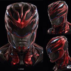 ArtStation - Red Ranger Helmet - Power Rangers, Ian Joyner