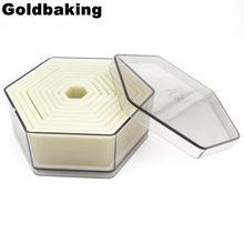 9 Peça Em Forma de Hexágono Conjunto Cortador de Biscoito Cookie Cutter Moldes(China (Mainland))