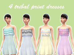 Eenhoorntje's Tribal Print Dresses (Recolors)