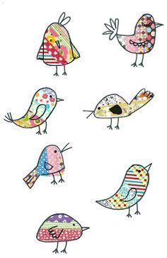 Vogelstickers om verpakkingen mee te versieren bijvoorbeeld.