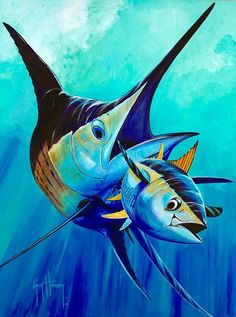 """Run-Away"" by Guy Harvey"