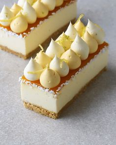 Passionfruit Cheesecake, Candied Lemon Peel, Cake Recipes, Dessert Recipes, Mini Tortillas, Chocolate Cream Cheese, Mini Desserts, Tray Bakes, Cookies Et Biscuits