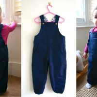 Toddler dungarees pattern | Made by Toya