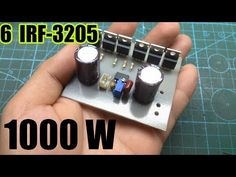 1000W INVERTER 6 IRF3205 use IR2153 - YouTube Electronics Mini Projects, Electronics Basics, Car Audio Amplifier, Class D Amplifier, Electronic Circuit Design, Electronic Engineering, Amplificador 12v, Maquillage Halloween Simple, Thermoelectric Generator
