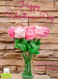 Marshmallow Rose Bouquet for Valentine's Day @Alejandra - The Marshmallow Studio