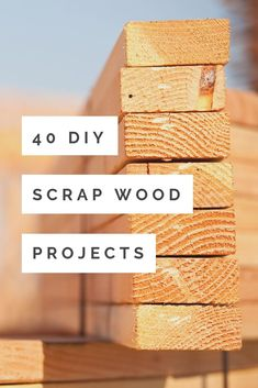 Make these DIY scrap wood projects with those small pieces leftover from your larger projects! 40 ideas to get your creativity flowing! wood projects 40 DIY Scrap Wood Projects You Can Make Wood Shop Projects, Wood Projects That Sell, Wood Projects For Beginners, Easy Wood Projects, Wood Working For Beginners, Projects With Scrap Wood, Diy Projects For Kids, Crafts For Kids To Make, Wood Project Plans
