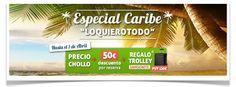 #caribe #republicadominicana #PuntaCana, #Bayahibe, #Cancún, #RivieraMaya, #Habana i #Varadero  Promoción válida para nuevas reservas de paquete vacacional a Caribe realizadas del 17 de Marzo al 01 de Abril y con fecha de salida comprendida entre el 01 de Mayo y el 30 de Octubre.  Reseva Online: http://campuvic.traveltool.es/navegacion/paquete/home_agrupacion.aspx?agr_codigo=19