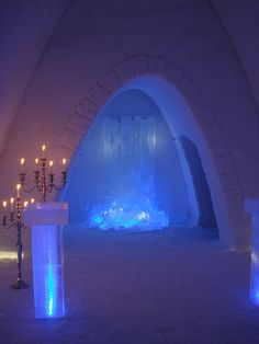 Hunderfossen, ice cathedral, near Lillehammer,  Norway
