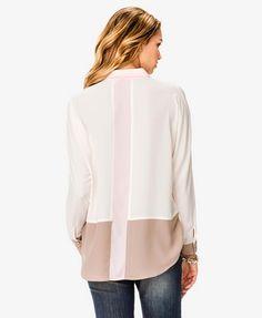 Colorblocked Semi-Sheer Shirt #love21...get in my closet!