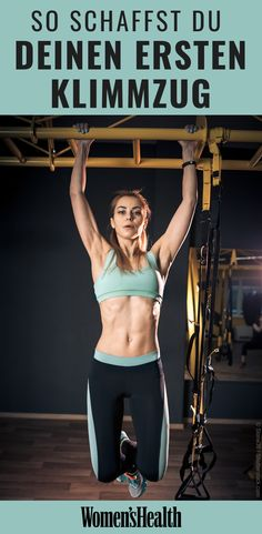 Unsere Kollegin Andrea will in nur 4 Wochen ihren ersten Klimmzug. Fitness Workouts, Fitness Motivation, Sport Fitness, Fun Workouts, Exercise Routines, Women's Fitness, Fitness Women, Exercise Motivation, Muscle Fitness