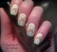 Owl Nail Art using Pueen nail stamping plate 40