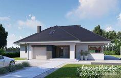 Projekt domu Wiesiołek 3 G, wizualizacja 1 Modern Family House, Small House Design, Garden Design, Sweet Home, Garage Doors, Exterior, Landscape, Outdoor Decor, Home Decor
