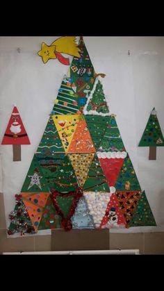 Christmas crafts - Basteln - - Holiday wreaths christmas,Holiday crafts for kids to make,Holiday cookies christmas, Preschool Christmas, Christmas Activities, Christmas Crafts For Kids, Winter Christmas, Holiday Crafts, Christmas Holidays, Christmas Decorations, Classroom Tree, Toddler Classroom