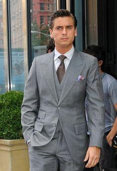 Gray suit Mens Fashion Suits, Gray Suits, Suit Jacket, Blazer, My Style, Grey, Coat, Jackets, Dresses