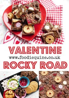A quick, easy and fun Valentine Themed traybake that's ideal for kids to help make. The classic Rocky Road takes on a romantic twist with the addition of Love Hearts, Rolos, Lips and Jammie… Valentines Day Food, Valentine Cake, Valentines Recipes, Valentines Baking, Valentine Treats, Best Chocolate, Melting Chocolate, Chocolate Recipes, Christmas Gingerbread Men