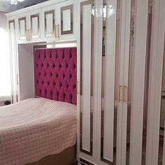 """901 Beğenme, 77 Yorum - Instagram'da ZEYNEP MOBILYA (@zeynep_mobilya): """"ozel yapim yatak odasi musterimize hayirli olsun #artdeco #yatakodasidekorasyonu #dolap…"""" Divider, Art Deco, House Design, Curtains, Instagram, Furniture, Home Decor, Blinds, Decoration Home"""