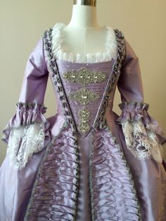 Lavender Rococo Wedding or Masquerade Gown by RachelKerbyCouture